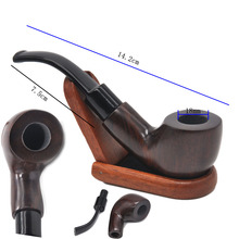 "Gorgeous 5.5"" Tobacco Wooden Pipe with smoking accessories"