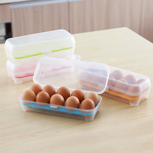 Hot Portable Carry 10 girds Eggs Container Holder Storage Box Case #87363