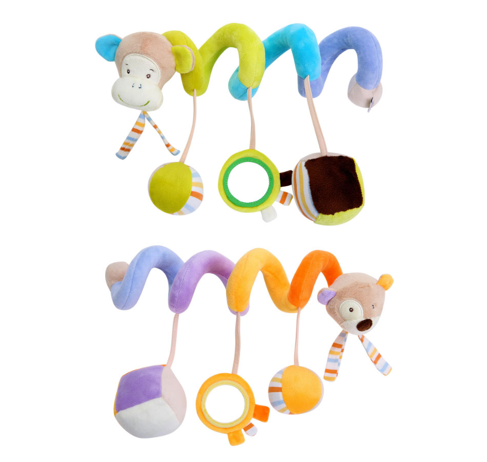 Infant baby toy activity spiral bed stroller bumper with BB device hanging crib rattle kids toys newborn juguete bebe animales 2