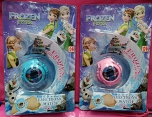 New 10 pcs Popular Cartoon princess Elsa Anna the watch has flash light with music For Best Gift W2