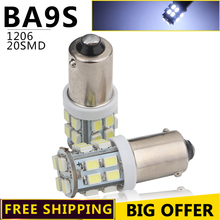 10-100 Pcs free shipping!!! BA9S 20 SMD 1206 Super Bright BA9S 20 LED Light Bulbs 12 volt led White Door lights