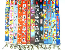 Wholesale 10 Pcs Popular Mickey Minnie Anime Cartoon Neck Straps Lanyards Mobile Phone,ID Card,Key Condole belt Mixed L357