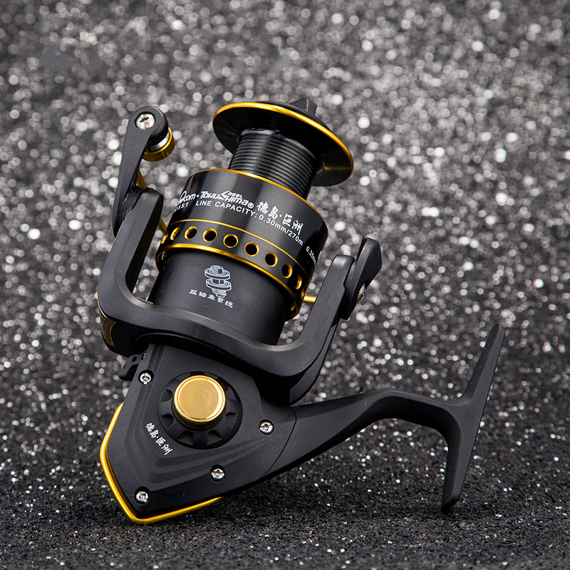 Tokushima DF 1000-6000 series Full Metal Spinning Fishing Reel Gear ratio 4.9:1/5.5:1 Ball bearing 3+1 Fishing Tackle Line Spool<br>