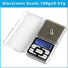 100g x 0.01g Mini Precision Digital Diamond Pocket Jewelry Scale Display Units Pocket Electronic Scales(China)