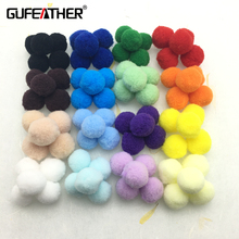 GUFEATHER High elastic plush ball/jewelry accessories/accessories parts/jewelry findings & components/embellishments 2cm