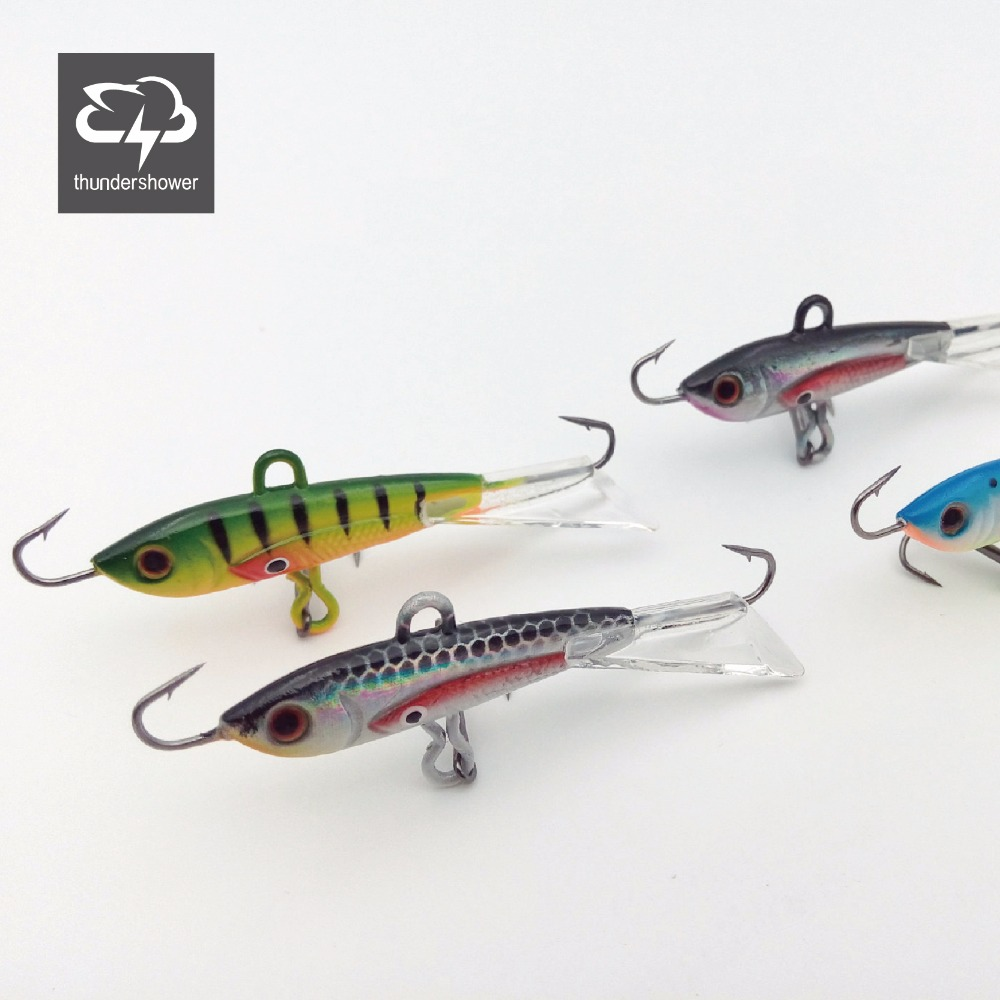 4 pcs Winter Fishing Lure Ice Fishing Jig Bait 6CM-10.5g Carp Fishing hooks Lead Hard Lure 10# Red hook<br><br>Aliexpress