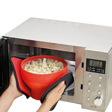 Quality Microwaveable Popcorn Maker Pop Corn Bowl Foldable Microwave Safe New Kitchen Bakingwares DIY Popcorn Bucket