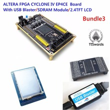 ALTERA FPGA development core board ALTERA CYCLONE IV EP4CE EP4CE6E22C8N board with USB Blaster programmer 256M SDRAM SDK SCH(China)