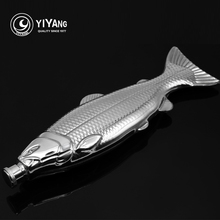 Personalited Unique Design Fish Shape Portable 4oz Stainless Steel Hip Flask Alcohol Whiskey Liquor Wine Drinkware Flasks