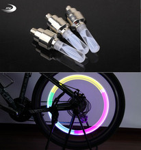 bike lights mountain road bicycle light LEDS Tyre Tire Valve Caps Wheel spokes LED Light 7 color auto lamp lamps - The China Store store