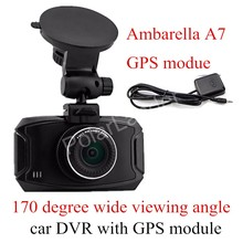 GS90A Ambarella A7 Car DVR Camera HD 2.7 Inch Dash Cam 170 Degree wide viewing angle Camcorder with GPS module(China)