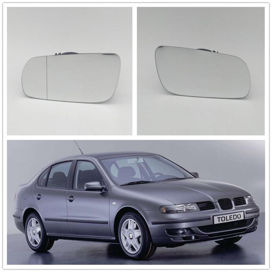2Pcs For Seat Toledo 1999 2000 2001 2002 2003 2004 Wing Door Mirror Glass Heated