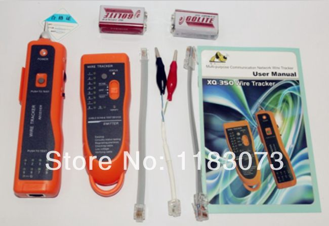 Smart WireTracker XQ-350 RJ45 RJ11 Finder Telephone Network Wire LAN Cable Tester Hunt Instrument With Package FreeShipping<br><br>Aliexpress