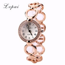 Lvpai Cheap Women Watch Luxury Top Brand Business Female Crystal Clock Quartz-Wristwatch Luxury Fashion Round Quartz Watch