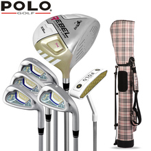 Brand Polo Genuine Cue Kit Women Golf Clubs with Waterproof Gun Bag High Quality Right Hand Club Beginner Wood Putter Iron Set