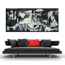 XH741 Spain France Picasso Guernica 1937 Germany Figure Painting Abstract drawing Spray Oil Painting Frameless Home decor Canvas