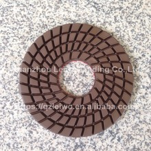 Diamond Polishing Pad 10 inch for Polishing Marble and Granite Slabs Wet Polishing Wheel Nylon Abrasive Pad Thickness 10 mm(China)