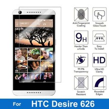 For HTC Desire 626 Dual Sim Screen Protector 2.5D 9H Tempered Glass Protective Film on 626s D626W D626n D626d 626G+ 4G Lte