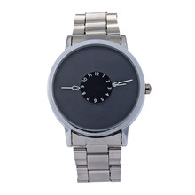 Fashion Luxury Boys Stainless Steel Pointer Quartz Wrist Watch