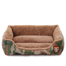 Winter Warm Dog House Camouflage Pet Dog Bed Fibber Puppy Cat Kennel Nest Sofa Mat Cushion For Small Large Dogs Pad Pet Supplies(China)