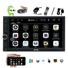 Free Front & Back Camera Double 2 din Android 6.0 Car Stereo in dash 7'' GPS Navigation Multimedia System External Microphone(China)