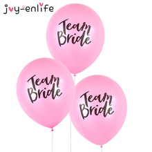 JOY-ENLIFE 10pcs Romantic Lovely Team Bride Round Latex Balloon Valentine's Day Hen Night Wedding Bachelorette Party Decor