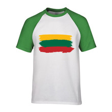 2018 lithuania mens Sleeves t shirt lithuania print chemise homme manchester camisas para hombre united jersey(China)