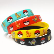 4pcs Mixed Colors Pokemon Silicone Bracelet Go Pikachu Birthday Party  Wristband