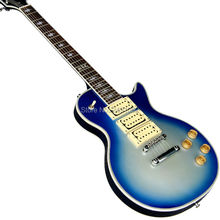 The new custom Lp blue silver paint 3 electric guitar pickup silver hardware free shipping