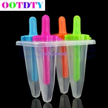 1 set Maker Cone Shape Popsicle Ice Pop Mold Frozen Food DIY Set Tool APR6_45(China)