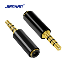 3.5mm Male to 3.5mm Female Stereo Audio Adapter 24K Gold Plated Connector for iPhone 6s,Smartphones,Headphones,Speaker,CD Player