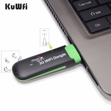 KuWFi UIFI WiFi Modem Portable USB Wi-fi Mobile Modem With SIM Card Slot Travel For 3G Network WiFi Networks For Car Or Bus(China)