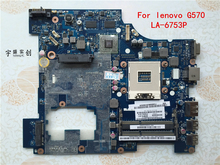 Free shipping NEW LA-6753P for Lenovo G570 notebook motherboard G570 motherboard ( 216-0774207 Graphics card ) without HDMI port