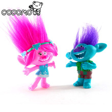 10cm Dreamworks Magic Elf Good Luck Trolls Bobbi Princess Bran character toys kids gift