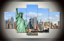 Hot Sales Wholesale Frame art 5 Panels Picture New York City HD Canvas Print Painting Artwork Wall Art Canvas painting jjv-1389