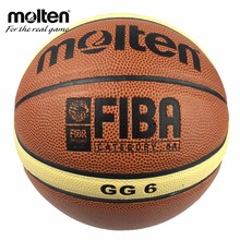 Official Size 6 Molten GG6 Basketball Ball Quality PU Leather Basketball For Women&Teenager Indoor Training With Net+Needle+Pin