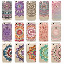 Vintage Indian Floral Henna Mandala Yoga Ethnic Soft Tpu Phone Case Coque Fundas For iPhone 7Plus 7 6Plus 6 6S 5 5S 8 8Plus X(China)