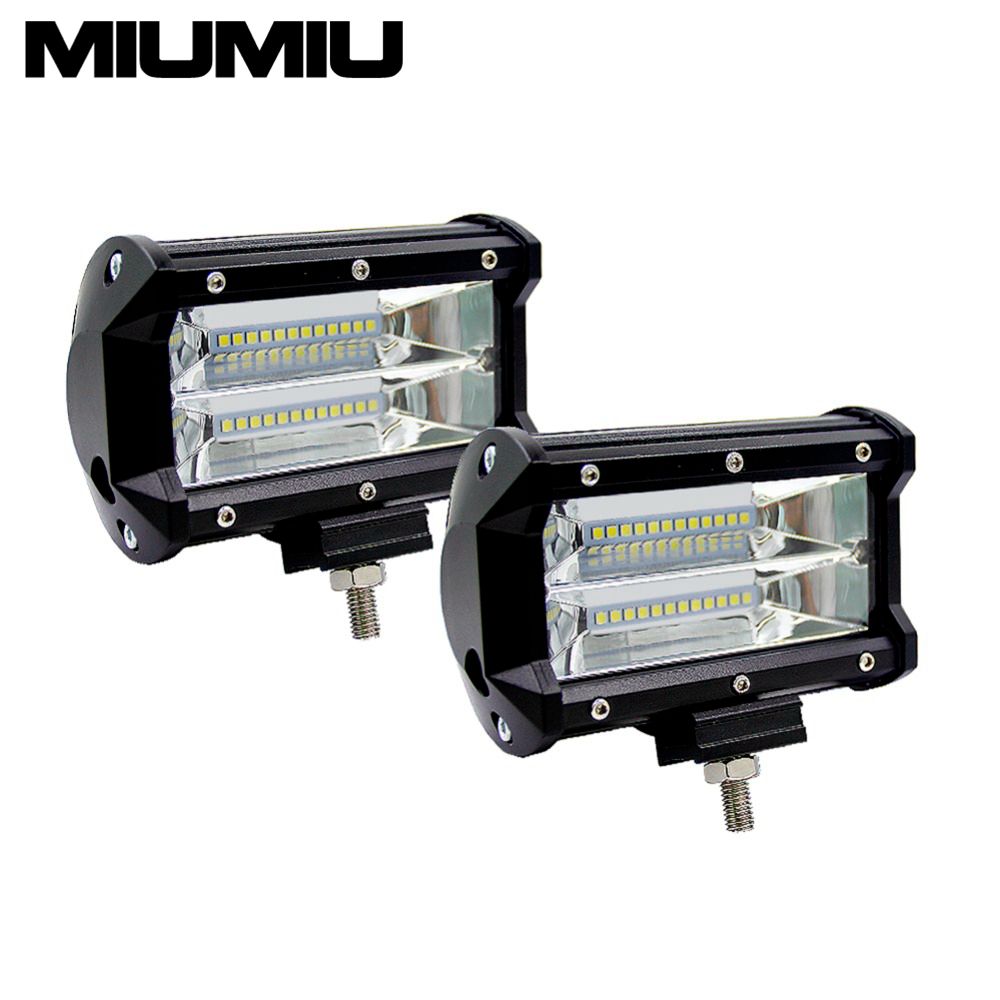 144W 6000K 5 Double Rows Combo LED Light Bar Off-road Car Light Cube Work Light Waterproof Driving Light Dome Light 2pcs/pack<br>
