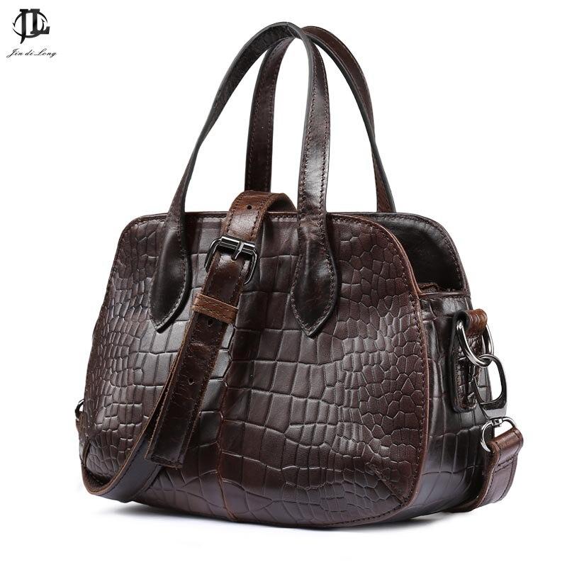 new arrival shell shape Crocodile bag fashion retro design chain cow leahter unisex genuine leather handbag/shoulder bag<br>