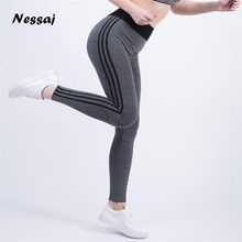Nessaj High Quality High Waist Plus Size Push Up Pants Elastic Leggings Women Sexy Bodybuilding Jegging Comfortable Leggings