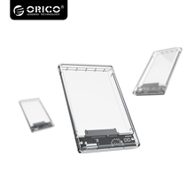 Orico 2139U3 2.5 inch USB 3.0 to SATA for Desktop 7mm to 9.5mm Slim 2.5 inch SATA HDD or SSD Transparent Hard Drive Enclosure(China)