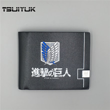 Japanese Anime Cartoon Wallets Attack on Titan / Totoro /One piece Men Top Quality Leather Purse With Card Holder