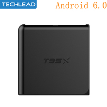 New T95X Smart Android 6.0 TV Box Amlogic S905X Quad Core WIFI Media Player 1GB 8GB Network Set Top Box DLAN 4K*2K HDMI XBMC(China)