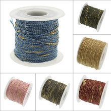 Wholesale Designer Jewelry 100Yards/Spool 1MM Nylon Cord Chinese Knotting Beading Braided String Thread DIY Jewelry Mix Color(China)