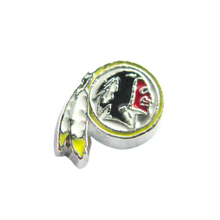 20 Pcs Enamel Washington Redskins Floating Charms American Football Team Floating Locket Charms For Glass Living Memory Locket