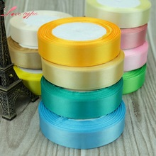20MM Pretty Silk Satin Ribbon 22M/Lot Wedding Party Decoration Invitation Card Gift Wrapping Scrapbooking Supplies Riband