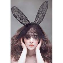 New Arrival Sexy Rabbit Long Ears Venetian Lace Mesh Masquerade Ball Mask Party Fancy Dress  Stylish Hottest