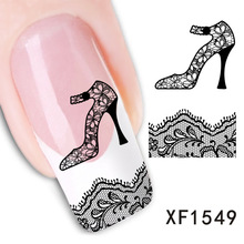 2017 Promotion Sale Nails 2 Sheet Manufacturers Accusing Xf Water Nail Sticker Lace Money Abroad Smooth Atmosphere Xf1549