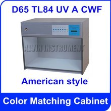 Free Shipping Color Matching Cabinet colour assessment box American style light sources: D65 TL84 UV A CWF  Customizable