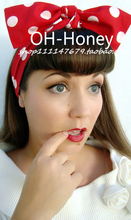 1950s women vintage rockabilly pinup red white polka dot headband hairband hair scarf wrap bands accessories bandana bandeau
